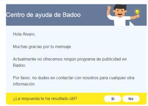 Publicidad en Badoo