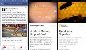 Capturas de pantalla sobre Facebook Instant Articles